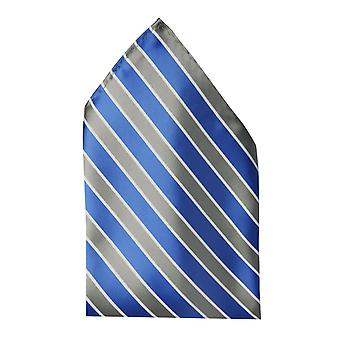 Handkerchief blue gray and white striped wedding Fabio Farini business noble shine