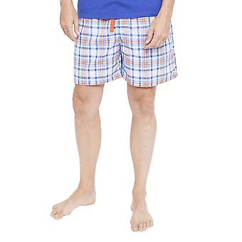 Cyberjammies 6346 Men's Oscar Blue Plaid Pyjama Short