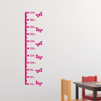Butterfly height chart wall sticker