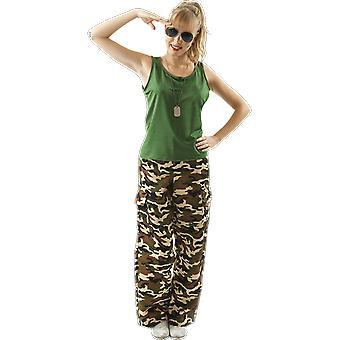 Orion Costumes Femmes Khaki Camo Army Girl Girl Uniforme Fancy Dress Costume
