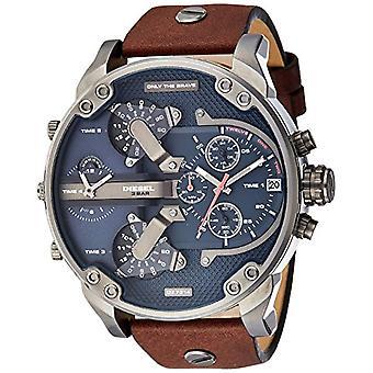 Diesel men's DZ7314 Brown Leather strap Analog conm-