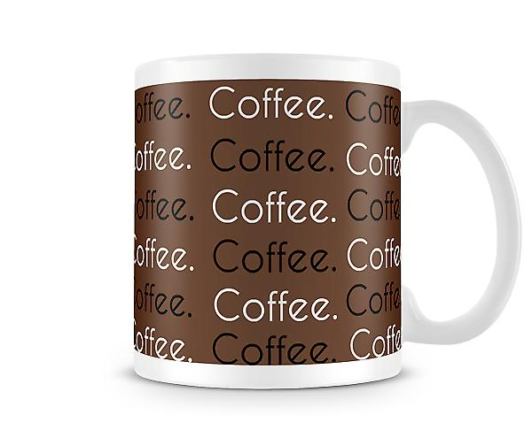 Coffee Wrap Brown Design Mug