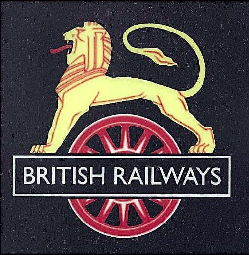 British Railways Lion Logo enamelled steel wall sign    (dp)
