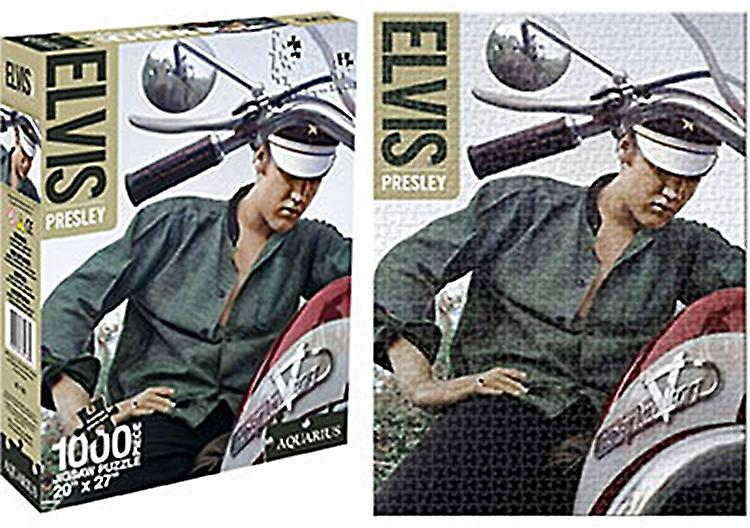 Elvis Presley on Harley Davidson 1000 piece jigsaw puzzle   (nm)