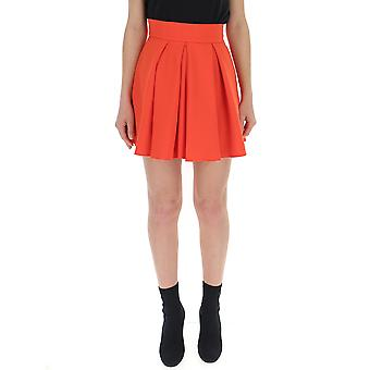 Elisabetta Franchi Orange Polyester Skirt
