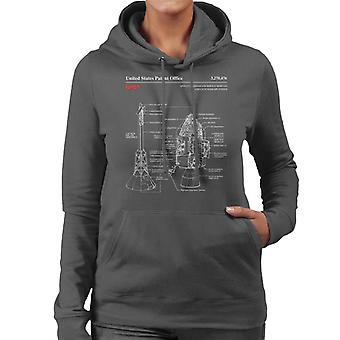 NASA Apollo CSM Escape System Blueprint Damen Sweatshirt mit Kapuze