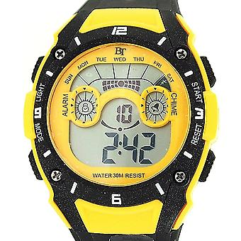 The Olivia Collection Childrens Digital Chronograph Yellow & Black Sports Watch