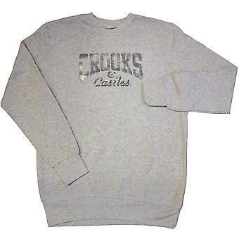 Crooks & Castles Core Logo Sweatshirt Heather Grey