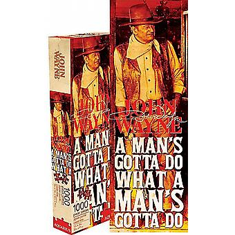 John Wayne Man's Gotta Do slim 1000 piece jigsaw puzzle     900mm x 300m     (nm 73031)
