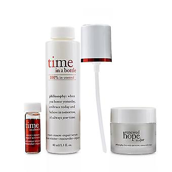Philosophy Hydrating & Glow Renewing Duo: Time In A Bottle Serum+Activator+Renewed Hope In A Jar - 3pcs