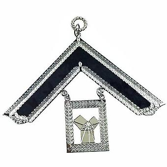Masonic Craft Lodge Officer Past Master Collar Jewel Silver