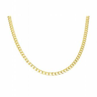 Toc 18 Inch Gold Plate on Sterling Silver Gents 28.6 Gram Curb Necklace