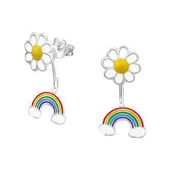 Prata esterlina Daisy e Rainbow Stud brincos