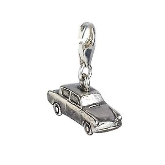 Harry Potter Sterling Silver Ford Anglia Flying Car Clip on Charm