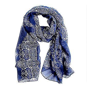& reg; Weibchen großen Sommer-Porzellan-Chiffon überdimensionalen langen Umschlag dünnen Stil Schal