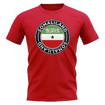 Somaliland Football Badge T-shirt (röd)