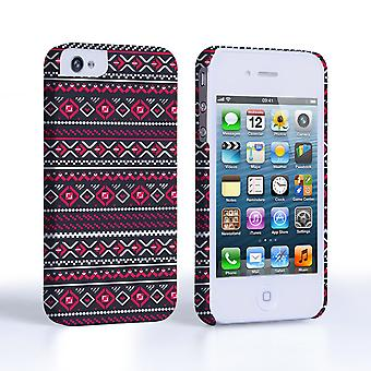 Caseflex iPhone 4and4S Fairisle Case – Grey with Red Background