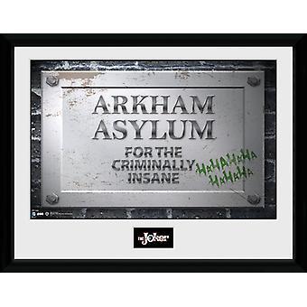 Batman Comic Arkham Asylum teken ingelijst Collector Print 40x30cm