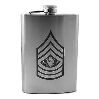 8oz army rank - sergeant major of the army - flask l1