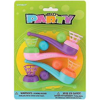 Party Favors Assorted-Blow Pipes 4/Pkg PF88-8890