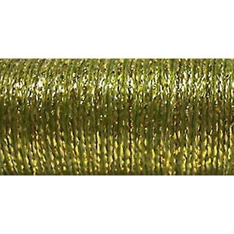 Kreinik amende Metallic Braid #8 10 mètres 11 verges Golden Olive F 5835