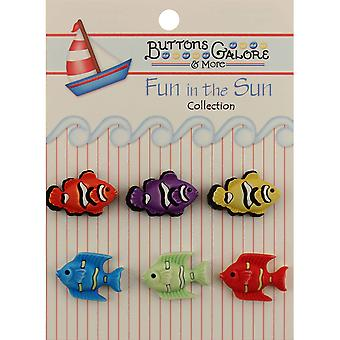 Fun In The Sun Buttons Exotic Fish Fn 102