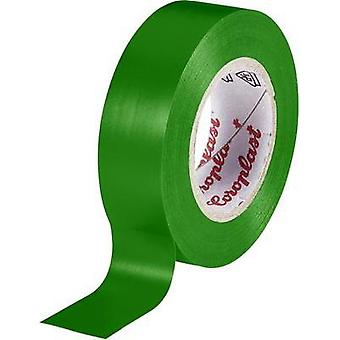 Electrical tape Coroplast Green (L x W) 10 m x 19 mm Acrylic Content: 1 Rolls
