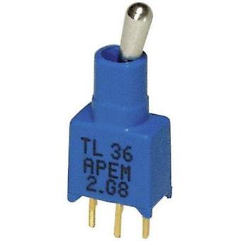 Toggle switch 20 V DC/AC 0.02 A 1 x On/On APEM TL3