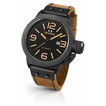 TW Steel Mens Canteen Light Brown Strap Black Dial CS45 Watch