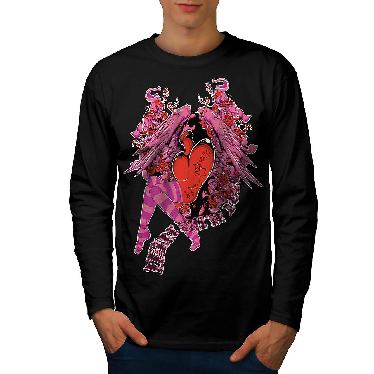 Will Be Love Sexy Fashion Men Black Long Sleeve T-shirt | Wellcoda