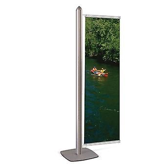 Single Advertising Display Stand - 600mm - Stahldas MFS Range