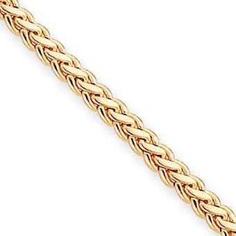 Gold-Flashed Solid Polished Gift Boxed Lobster Claw Closure Braided Bracelet - 7.25 Inch