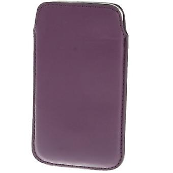 Mobile case bag slide sleeve purple / violet