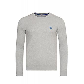 U.S. POLO ASSN. V-Neck Sweater Herren Pullover Grau 173 42619 51894 180