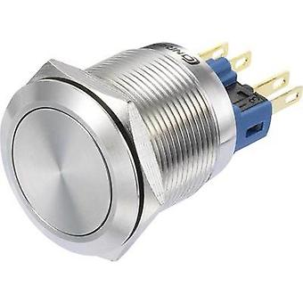 Pushbutton switch 250 Vac 3 A 1 x On/On TRU Components GQ22-11Z/S IP65 latch 1 pc(s)