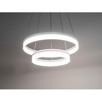 LED pendant lamp vivo circle 2 Ø 60 cm 102W 3000 K ALU Matt White Kiom 10699
