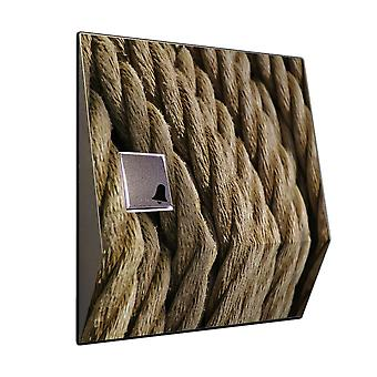 Front door bell with radio - decorative rope motif V2A stainless steel chime