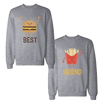 Burger And Fries Best Friend BFF Sweatshirts Matching Sweat Shirts