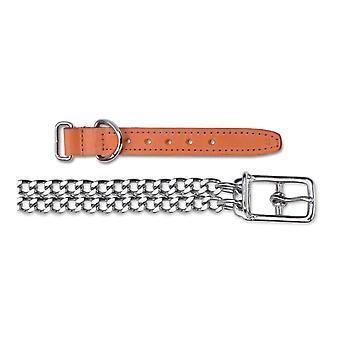 Patrimonio cadena Collar 2 fila medio Tan 26-31cm Sz 2