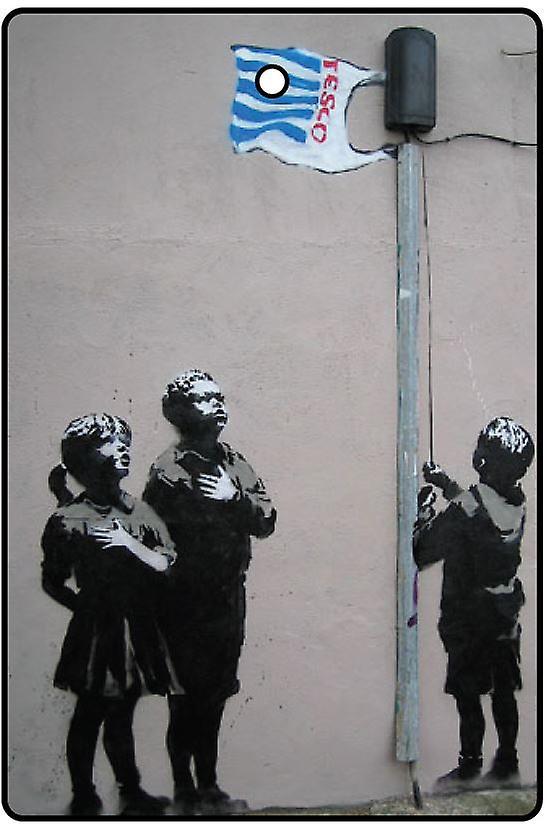 Banksy Tesco Flag Car Air Freshener