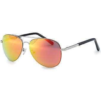 Bloc Dune 2 Sunglasses - Silver / Red Polarised