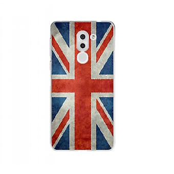 Cover UK vlag Retro voor Huawei Honor 6 x