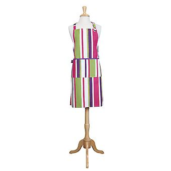 Rushbrookes Regatta Purple, Pink & Lime Green Stripe Apron