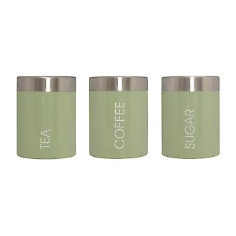 Premier Housewares Tea, Coffee & Sugar Canisters Pistachio Green