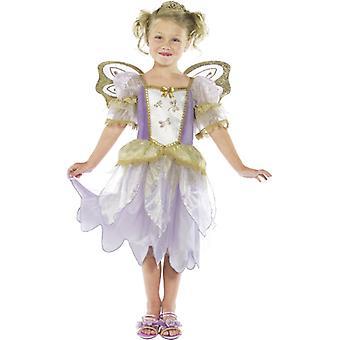 Fairy tale costume children Princess fairy dress purple costume