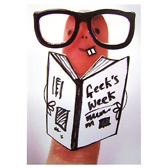The Art Group Geek Chic Finger Card
