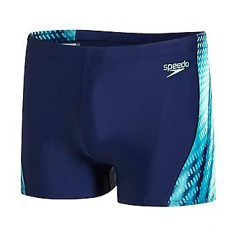 Speedo Speedo Placement Curve Panel Endurance10 Aqua Short, Navy/Green/White