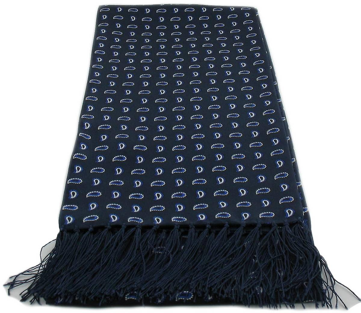 Michelsons of London Small Pine Silk Scarf - Blue