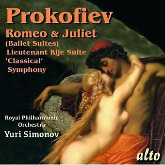 Prokofiev/Simonov/Royal Pco - Romeo & Juliet (Highlights)/Symphony No. 1 [CD] USA import