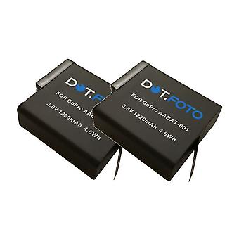 2 x bateria de substituição de GoPro AABAT-001 Dot.Foto - 3.8 / 1220mAh - GoPro HERO5